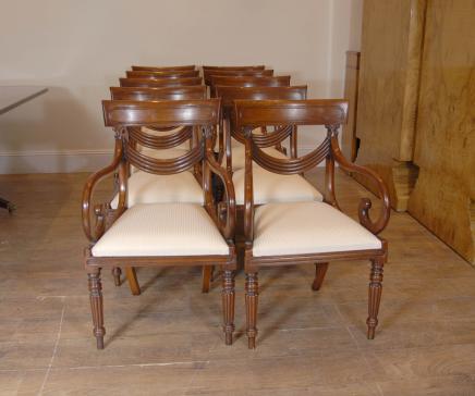 10 Regency Swag Mahagoni Esszimmerstühle Stuhl