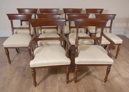 10 englischen Regency Trafalgar Esszimmerstühle