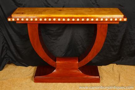 1920 Art-Deco-U-Konsole Tabelle Halle Tabellen Interiors Möbel