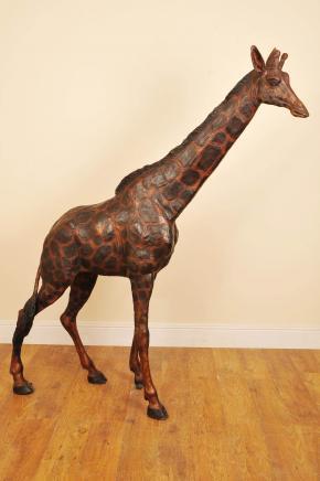 7 ft Bronze afrikanischen Giraffe Giraff Garten-Statue