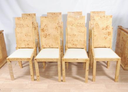 8 Art Deco Set Esszimmerstühle Stuhl Moderne Möbel