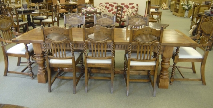 8 Englisch William Mary Rustic Dining Chairs Barley Twist