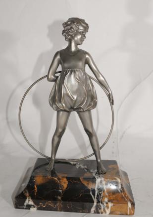 Art-Deco-Band-Tänzer Bronze durch Preiss