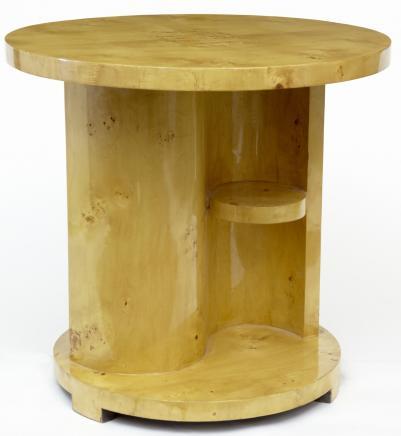Art Deco Blonde Walnuss Beistelltisch Cocktail Tabellen Möbel