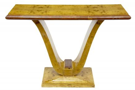 Art Deco Blonde Walnuss Console Table Retro Möbel