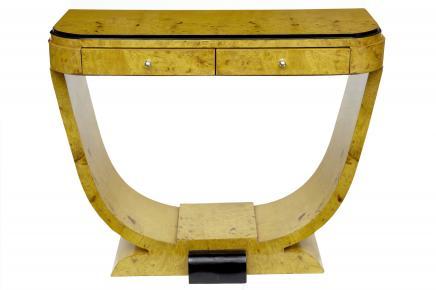 Art Deco Blonde Walnuss Halle Tischkonsole Tabellen Vintage Möbel