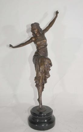 Art Deco Bronze russischen Tänzer von Philippe