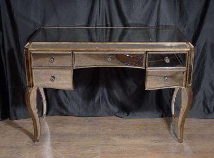 Art Deco Gespiegelte Schminktisch Schreibtisch