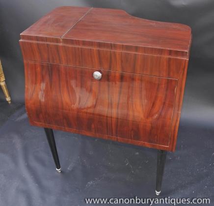 Art Deco Klavier Getränke Cocktail Cabinet Kommode Möbel