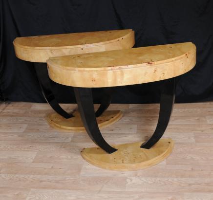 Art Deco Konsolentisch Halle Tabellen Inlay Moderne Möbel