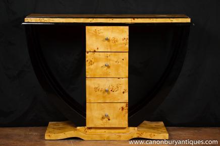 Art Deco Konsolentisch Kommode Schubladen Interiors Möbel