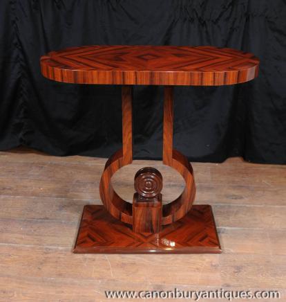 Art Deco Konsolentisch Palisander 1920er Tabellen Möbel