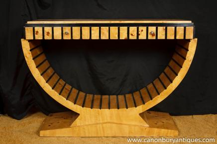 Art-Deco-Möbel Console Tabelle 1920 Style Blonde Walnuss