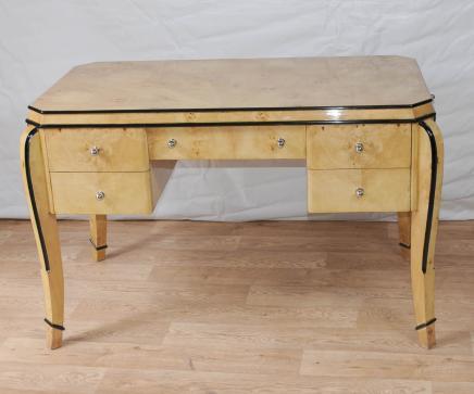 Art Deco Schreibtisch Schreibtisch Bureau Blonde Walnuss