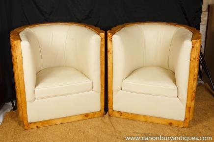 Art Deco Sessel Clubsessel Tub Crinkle Walnut