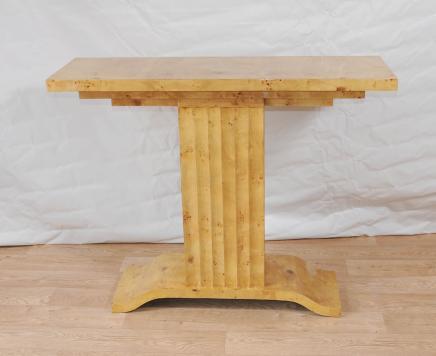 Art Deco Tisch 1920er Console Tabellen Blonde Walnuss Vintage Möbel