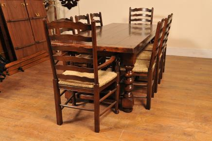 Barley Refektorium Tabelle Ladder Chair Kitchen Set