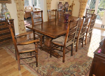 Bauernhaus Küche Refektorium Tabelle Spindleback Stuhl Set Esszimmer