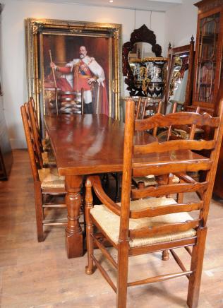 Bauernhaus Refektorium Tabelle Ladder Stuhl Set Esszimmer