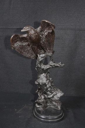 Bronze American Eagle Statue Vogel Prey