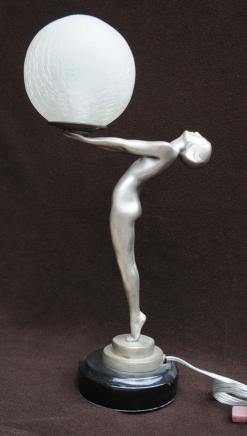 Bronze Art Deco Biba Figur Statue