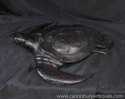 Bronze-Brunnen Turtle Sea Turtles Gartenteich Wasserspiel