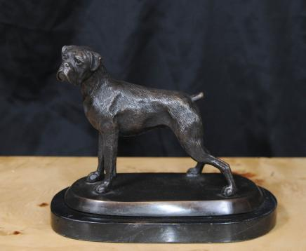 Bronze Englisch Bull Dog Statue verfolgt Hunde-Kunst