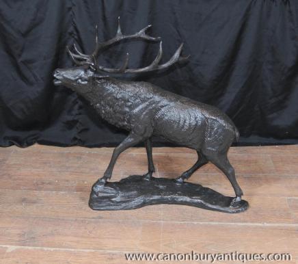 Bronze schottischen Hirschstatue Casting Elk Elch