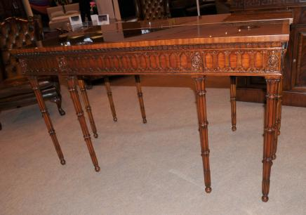 Chippendale Console Tabelle Hand geschnitzte Mahogany Hall Tabellen