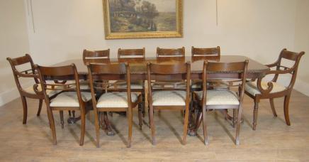 Chippendale Esstisch Regency Stühle Set Suite