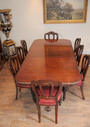 Chippendale Tisch & viktorianischen Dining Chairs Set