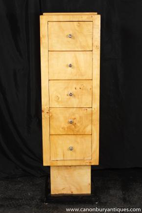 Einzel Art Deco Tall Boy Brust Schubladen 1920er Jahren Möbel
