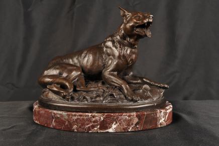 Englisch Bronze Casting Fox Tiere