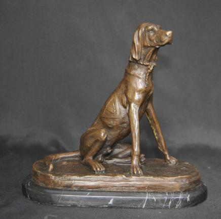 Englisch Pointer Dog Statue Bronze Casting