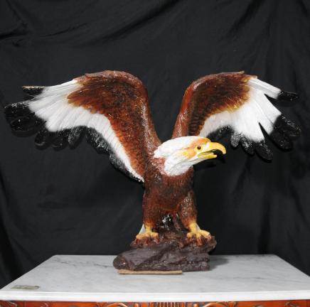 Farbige Bronze amerikanische Golden Eagle Vogel Statue uns Prey Art Casting