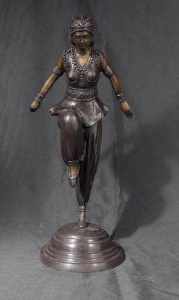 Französisch Art Deco Chiparus Anmutige Tänzerin Figurine Ägypten