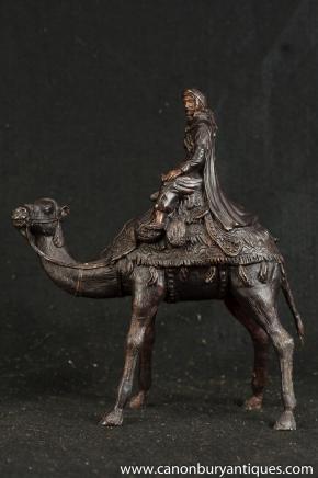 Französisch Bronze Casting arabischen Beduinen Kamel Statue Kamele Lawrence Arabia