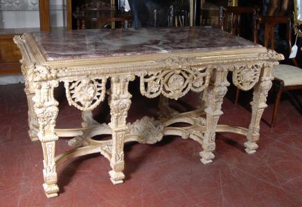 Französisch Louis XV Gilt Console Tabelle Tabellen