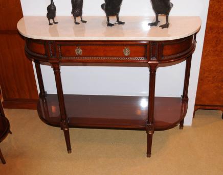 Französisch Louis XV Nussbaum Console Server Tabelle Buffet Sideboard