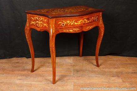 Französisch Reich Console Tabelle Halle Tabellen Intarsien-Möbel