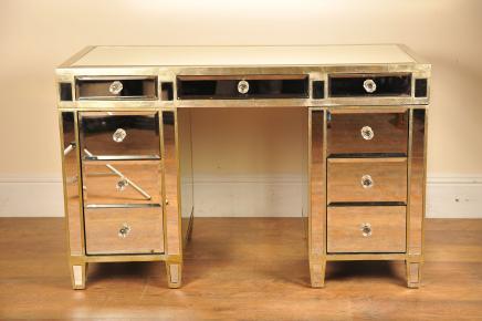 Gespiegelte Schreibtisch Knie Loch Spiegel Möbel