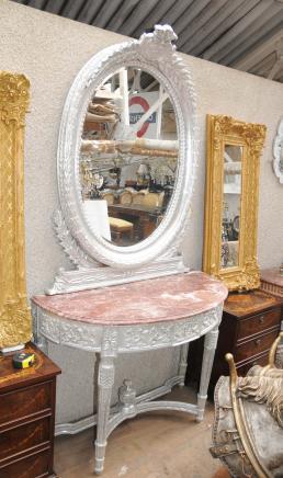 Gilt Englisch Rokoko Konsolentisch Spiegel Set