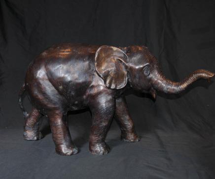 Große Bronze Afrikanischer Elefant Tiere Casting Statue Stammeskunst