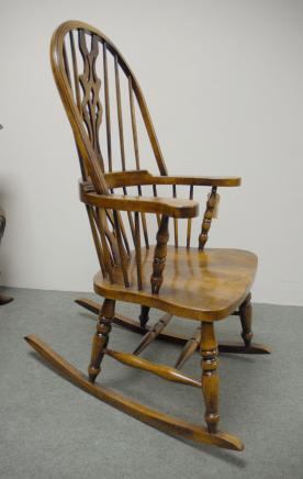 Hand geschnitzte englischen Windsor Stühle Schaukelstuhl Bauernhof