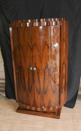 Hohe Art-Deco-Crinkle Cabinet Schrank Möbel