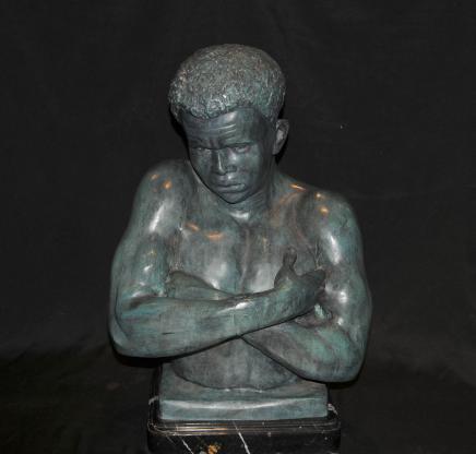 Italienisch venezianischen Bronze Büste Mohr Statue