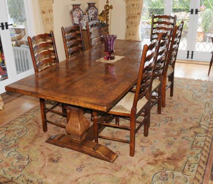 Land Refektorium Tisch und Stuhl Ladder Dining Set