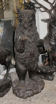 Lifesize Bronze Grizzly amerikanischen Brown Bear Tiere