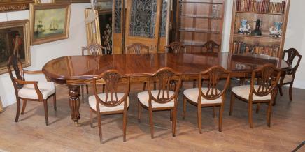 Mahagoni Esstisch Stühle viktorianischen Extender & Sheraton Stuhl Set