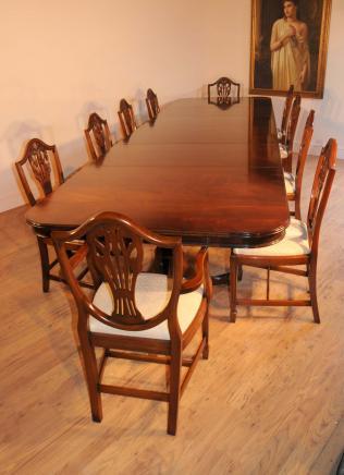Mahagoni Regency Dining Set Tisch & Stühle Prince Wales